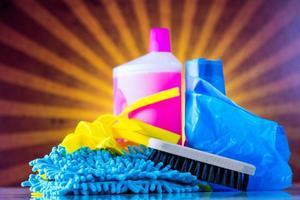 Washing, cleaning on light background photo