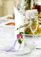 festively decorated table for a banquet