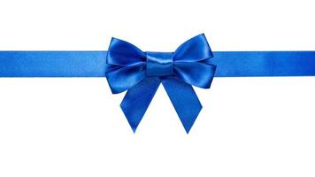 blue ribbon with bow and tails