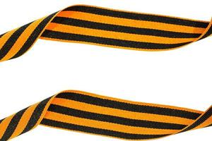 St. George's ribbon isolated on white