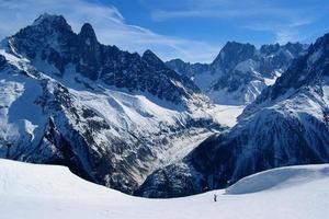 glaciar mer de glace foto
