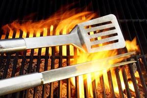 Utensilios para barbacoa y rejilla de hierro fundido caliente xxxl foto
