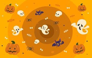 Quirky Halloween E-meeting Background vector