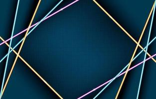 Glowing Geometric Neon Lights Composition