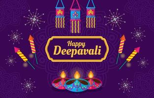 Deepavali Indian Light Festival vector