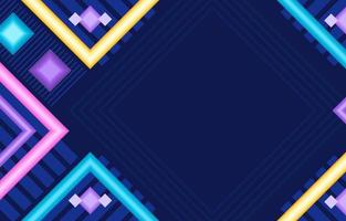 Colourful Abstract Flat Geometric Shapes Composition vector