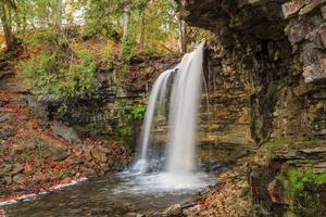 Gran vista natural del otoño de la cascada del cinturón verde de la escarpa del Niágara