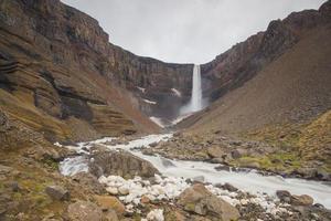 Hengifoss waterfall photo