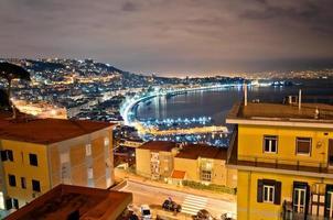 Vista de la bahía de Nápoles desde posillipo con mar mediterráneo