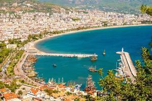 puerto de la ciudad de alanya foto