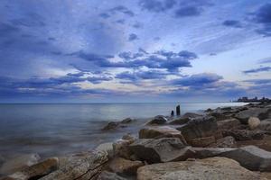 Evanston rocky shoreline photo