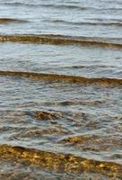 Wave on the sea surface. photo