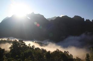 Mountain range in Chiang Mai, Thailand photo