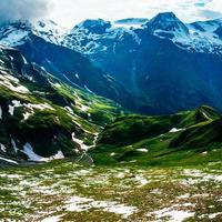 beautiful views of the mountains in the Alps photo