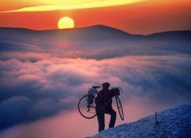 Cyclist ekstremal photo