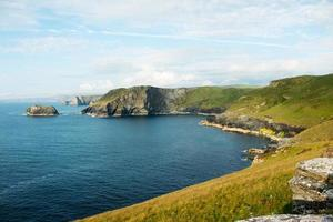 Headland at Tintagel, Cornwall in England