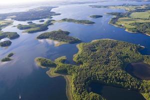 Aerial view of lake