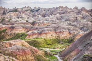 Yellow Mounds Landscape In The Badlands photo