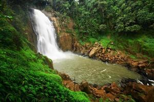 Big waterfall in rainforest