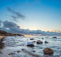 Sunrise over Baltic Sea on island Rugen, Germany