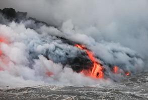 Flowing lava