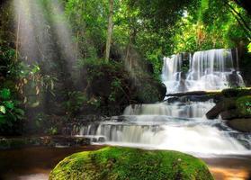 cascada de mundang, petchaboon, tailandia