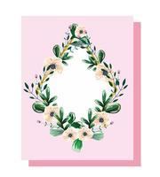 corona con flores y hojas