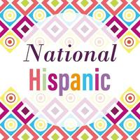 National Hispanic heritage month design vector