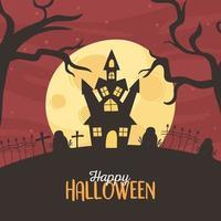 Happy Halloween poster design  vector
