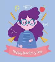 feliz dia del maestro vector