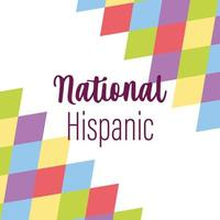 projeto do mês da herança hispânica nacional vetor