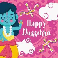 Happy Dussehra Greeting Design  vector