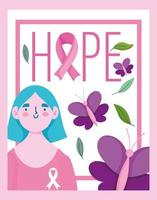 Breast cancer awareness month design vector
