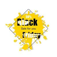 Yellow and black Black Friday Banner vector