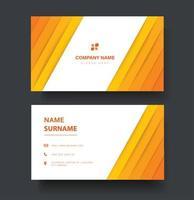 plantilla de tarjeta de visita de doble cara de líneas amarillas vector