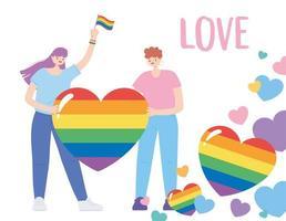 comunidad lgbtq para el desfile del orgullo y la celebración vector