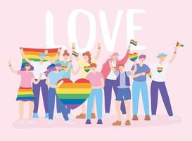 LGBTQ community for Pride parade and celebration vector