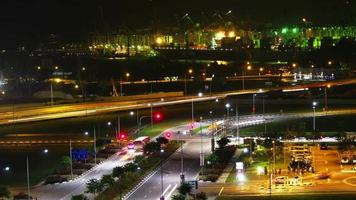 port de singapour la nuit