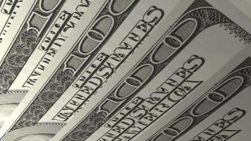 Macro factures américaines de 100 dollars