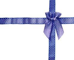 Shiny Ribbon blue (bow) gird box frame. photo
