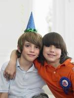 Two Boys At Birthday Party