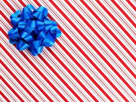 Blue ribbon or red stripe gift wrapping paper