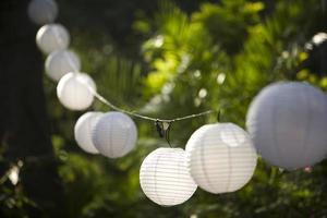 Globe lanterns photo