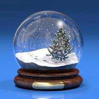 Snowglobe with footprints