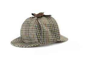 Close-up of Deerstalker Cap Isolated On White