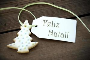 Christmas Label with Feliz Natal