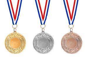 medallas de oro plata bronce foto
