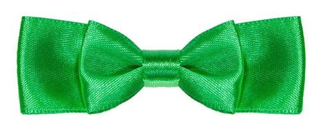 green satin double bow knot isolated photo
