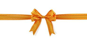 Orange gift bow photo