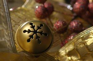 Gold jingle bell